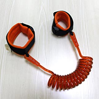 COODIO Kids Anti-Lost Rope Bracelet Arm Leash Pulling Rope for Baby Children Safety Product Orange 1.5m