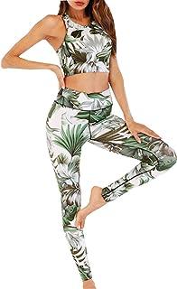 Abetteric Womens Hot Pants Two Piece Cozy Splice Active Crop Top+Shorts Set