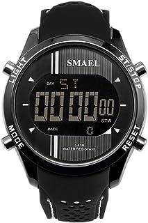 スエエルのLEDデジタル腕時計マンクォーツスポーツ時計ブラックスマートクロックファッションクールメンズ電子ウォッチラグジュアリー有名な1283