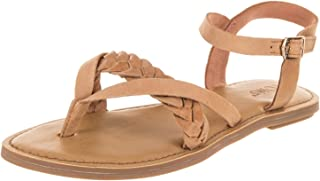 TOMS Womens Lexie Open Toe Casual Slingback Sandals Honey Leather