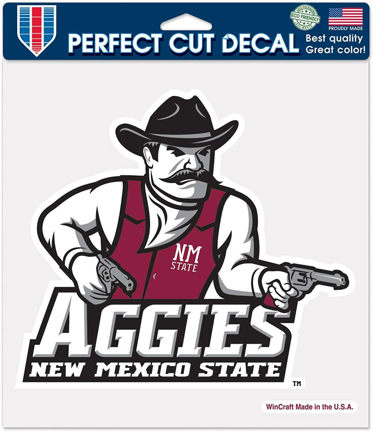 NCAA New Mexico State Aggies Perfect Cut color Decal, 8 x 8Inch