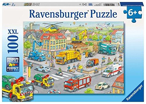 Ravensburger Veicoli in Città - Puzzle 100 Pezzi