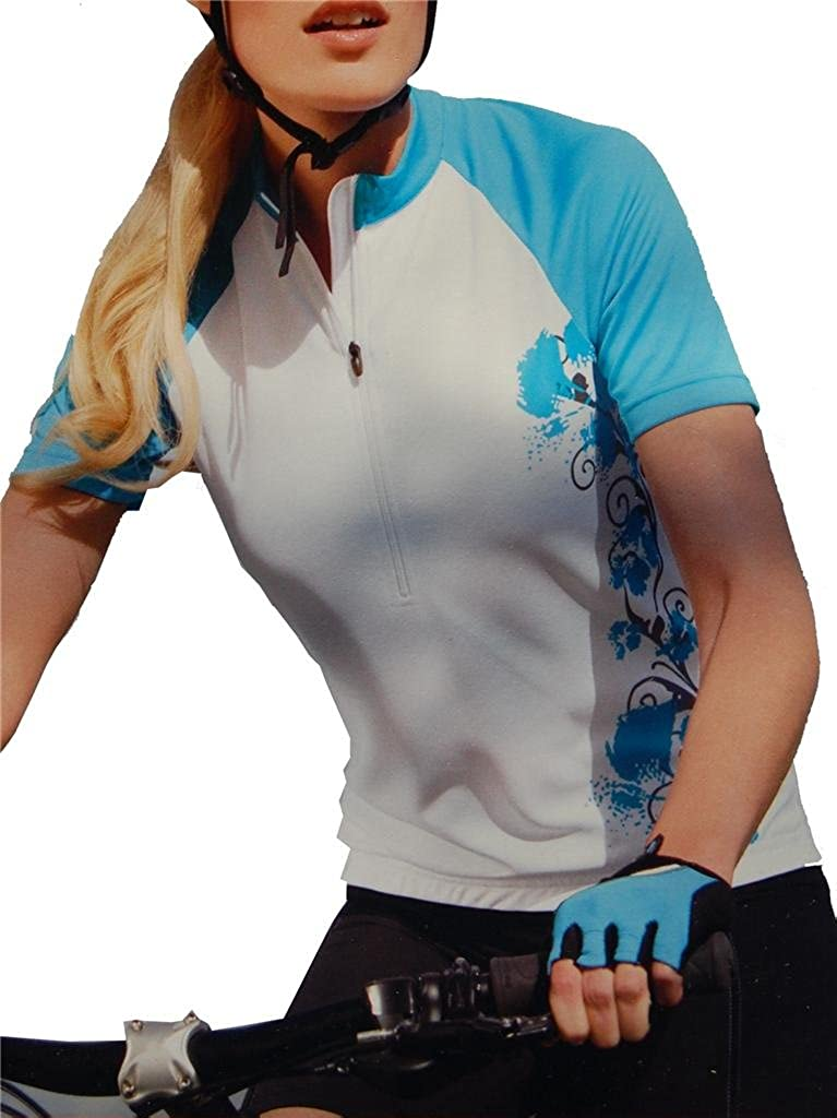 EuroBrand Women's Sublimated Print J Large special price Short-Sleeve Biking List price Cycling