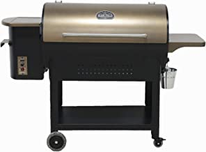 Ozark Grills - the Bison Wood Pellet Grill and Smoker with 2 Temperature Probes, 23 Pound Hopper, 720 Square Inch Cooking Area