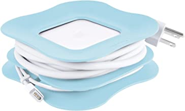Quirky PowerCurl 45w Clip-On Cord Wrap for Apple MagSafe Power Adapter - for MacBook Air Blue
