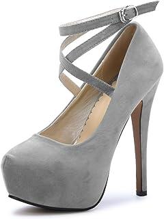 Zapatos Tacón MujerY De Amazon esGris Para yN8nOPwvm0