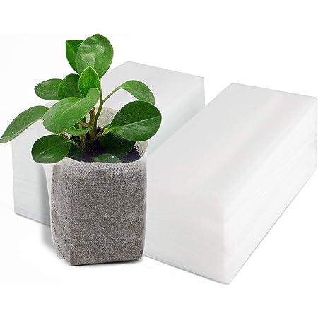 Censhaorme 5Pcs//Set Breathable Nonwoven Fabric Pots Strap Planter Bag Nonwoven Handles Bags Nursery Garden Planting Grow Planter Bag Pouch Black5
