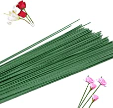 200 PCS 22 Gauge Dark Green Floral Stem Wire Handmade Bouquet Stem Crafting Floral Wire,Artificial Plant Stub Stem for Flo...