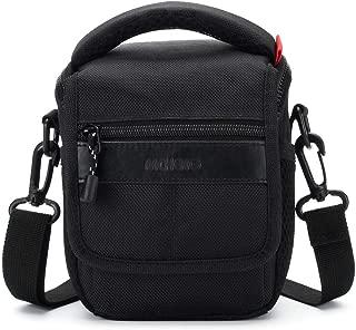 MCHENG Shock Resistant Shoulder Camera Bag for Canon EOS Rebel SL1 M6 M50 PowerShot SX420 IS / Nikon 1 J5 COOLPIX A900 B500 / SONY A5100 A6500 Cyber-Shot DSC-HX90V / OLYMPUS OM-D E-M10 Mark II, Black
