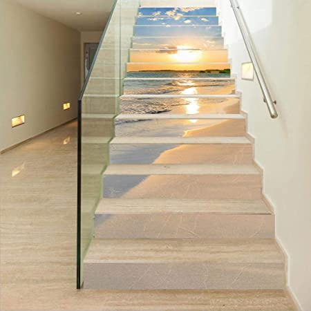 Details about  /3D Coast Waves 731 Stair Risers Decoration Photo Mural Vinyl Decal Wallpaper U