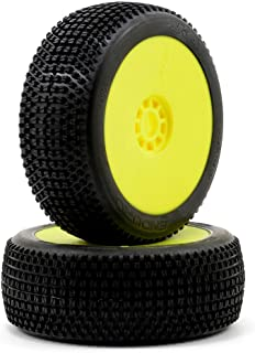 AKA Products 14006SRY Racing Buggy Enduro Soft Evo Wheel Pre-Mounted Yellow Tire, Scale 1:8