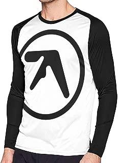 Kooiico Mens Particular Aphex Twin Logo Long Sleeve Raglan Baseball T Shirts Black