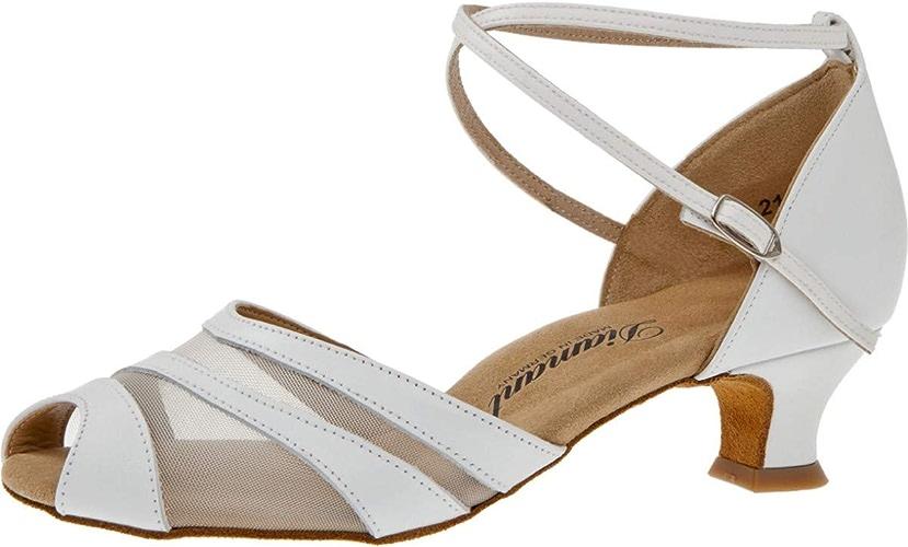 Femmes Chaussures de Danse Chaussures de Mariage 102-011-033 - Cuir engrener Blanc - 4,2 cm Spanish - Special Edition