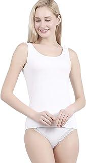 POWER FLOWER Women's Basic Undershirt Camisole Slim Fit Vest Top with Premium Cotton – Italian Designed Ultra Soft - Avail...