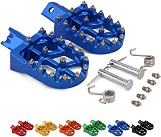 Motorcycle Foot Pegs Rest Pedal Footpegs For HONDA CRF XR 50 70 110 Pit Bike Chinese Stomp Lucky MX Thumpstar Explorer Pitster Pro SDG DHZ SSR Tao Tao Bosuer KAYO Xmotor Apollo BLUE