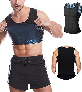 langjiao Débardeur de Sudation pour Homme Gilet,de Minceur, Fitness,T-Shirt,Effet Sauna Sport, Shaper, Perte de Poids Bod...