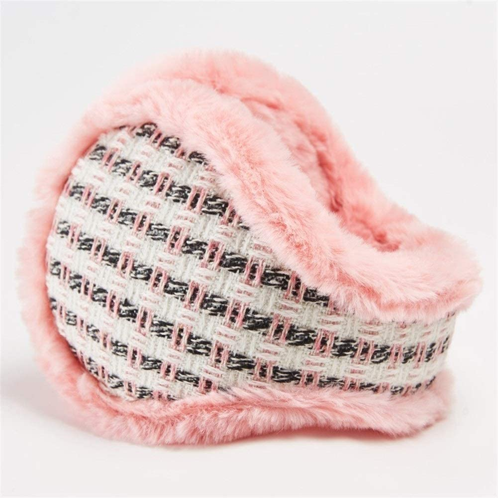 ZYXLN-Earmuffs,Warm Earmuffs Winter Earmuffs for Men and Women Thickened Cold Ear Cover Winter Knitted Earmuffs Color Earmuffs Foldable Ear Muffs (Color : Pink)