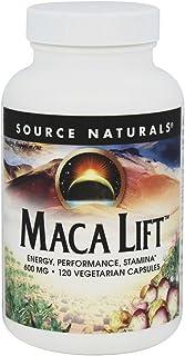 SOURCE NATURALS Maca Lift 600 Mg Vegetable Capsule, 120 Count