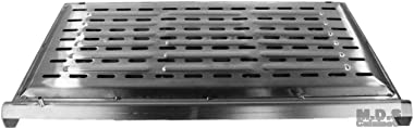 "Griddle Stainless Steel Flat Top With reinforced brackets under griddle-Heat Distributor Heavy Duty Comal Plancha 32"" x17"""