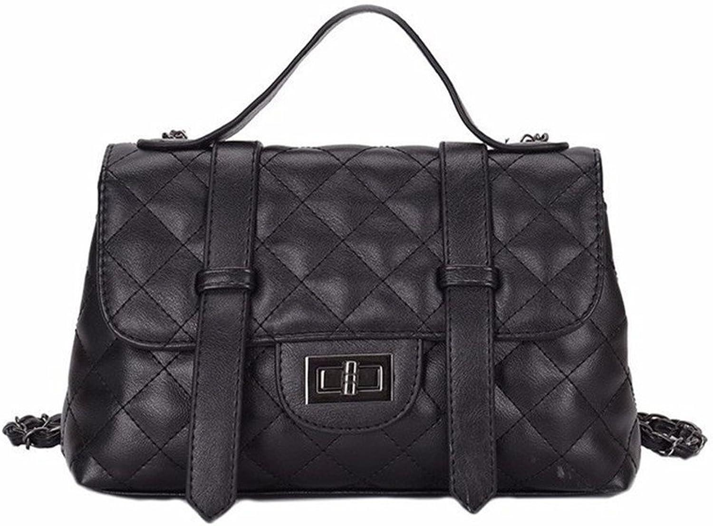 GWQGZ GWQGZ GWQGZ Lady Diamant-Kette Tasche Mode-Trend-Umhängetasche Einfache Handtasche Schräge Tasche Schwarz B07FYZHHVG  Meistverkaufte weltweit 49fb81