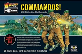 Bolt Action Commandos! British or Inter-Allied Commandos 1:56 WWII Military Wargaming Plastic Model Kit