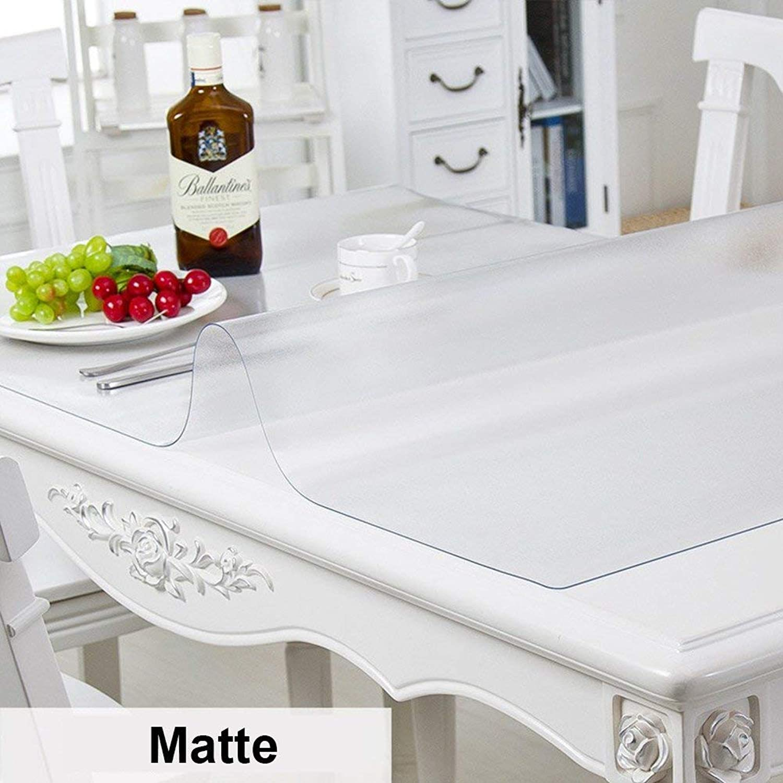 precios mas baratos WENYAO Transparent Tablecloth Slim Drooping Tablecloth Crystal Crystal Crystal Plate Soft Skin Waterproof Tabmat for Kitchen Dining Coffee Tables,Matte_90160cm  más orden
