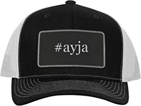 One Legging it Around #ayja - Leather Hashtag Black Patch Engraved Trucker Hat