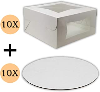 cake boxes and cake boards