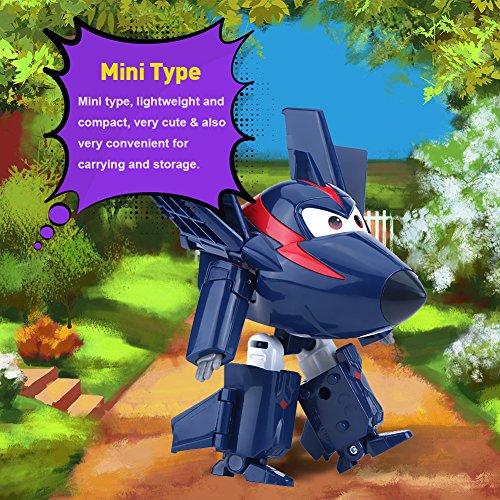 Kinderen vliegtuig speelgoed, transformeren speelgoed figuur 4 types 12cm vliegtuig speelgoed animatie actiefiguur transformeren robot vliegtuig kind speelgoed, beste cadeau voor jongens meisjes