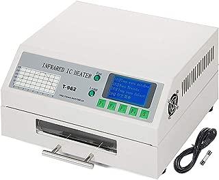 4YANG T962 Horno de reflujo Infrarrojo IC Máquina de soldadura de calentador 800W 180 x 235 mm SMD SMT BGA Soldadura automática (180 x 235 mm)