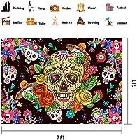 HD 10x7ft花の頭蓋骨の背景メキシコフィエスタ死者の日の背景ビニール写真ブース小道具BJQQPH131