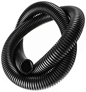 10ft Wire Tubing Conduit Flexible Polyethylene Corrugated Wrap Cover Cable Sleeve Auto Home Marine Black (1/4 Inch)