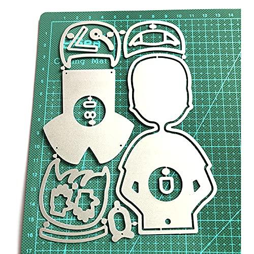 FUNCOCO Plantilla de troqueles, personaje Doctor Lollipop Box de acero al carbono troqueles de corte DIY álbum de fotos de grabación en relieve tarjetas de papel