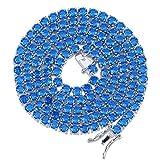 Jewelrysays - Cadena de tenis chapada en plata con cadena de