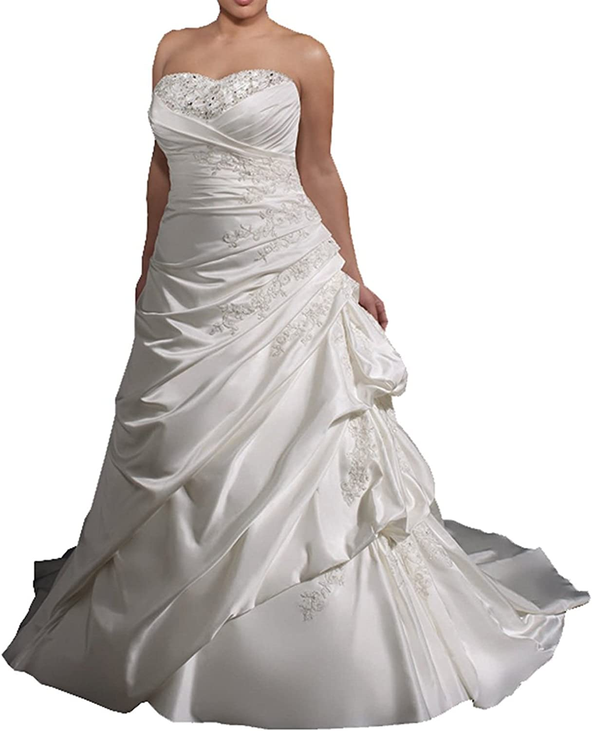 YanLian Womens Plue Size Sweetheart Plue Size Wedding Dress YL023