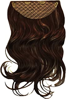 """Mia Clip-n-Hair, Synthetic Wig Hair Piece Extension, Clip On, Instant Volume, Length, Color, Dark Brown 22"""" Long, for Wome..."""