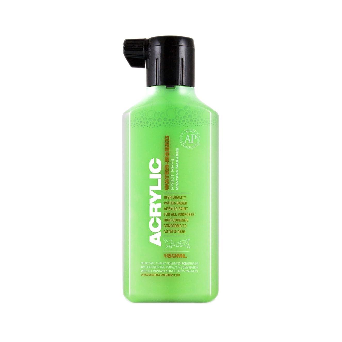 Montana Acrylic Marker Ink Refills, 180ml Bottle, Acid Green (053214)