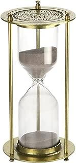 Hourglass?60 Minutes ?Sand Timer,KHTD Metal Sandglass One Hour Glass for Office Study Bedroom Living Room Christmas Gift Wedding