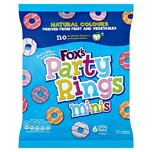 Fox's Party Rings Minis Biscuit Bags, 126 g