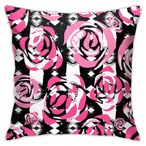 Moily Fayshow Abstract Hibiscus Flower Tribal Fabric 40 X 40 Cminch Throw Pillow Covers Sofa Car Cushion Cover Home Decorative Pillowcase