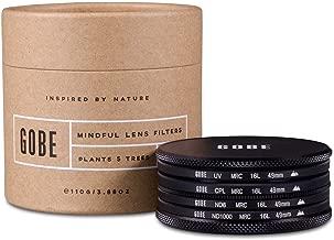 Gobe Filter Kit 49mm MRC 16-Layer: UV, CPL Polarizer, ND8, ND1000
