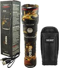 NEBO SLYDE KING 500 Lumen Rechargeable LED Flashlight Bundle with SLYDE Holster (Camo)