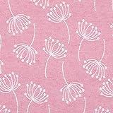 Jacquard Dekostoff Doubleface Pusteblume rosa - Preis gilt