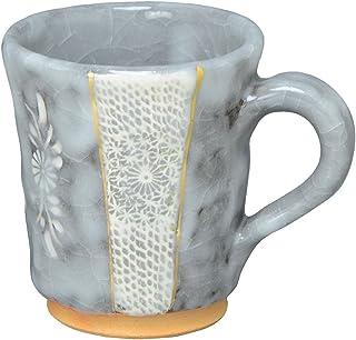 京焼 清水焼 喜信窯 マグカップ 黒志野印華 CYK672