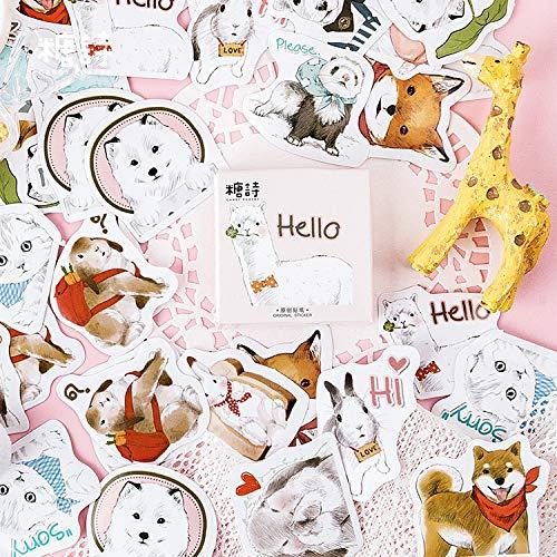 Verzamel van schattige dieren, papier, klein dagboek, schattig, zelfklevend, set voor scrapbooking met bloemen, dagboek