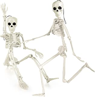 Labeol Halloween Skeleton Decorations with Posable Joints Skeletons for Halloween Party Haunted House Props Decorations, 2...