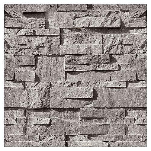 murando - Fototapete selbstklebend 10m 3D Tapete Wandtattoo dekorative Möbelfolie Dekorfolie Fotofolie Wandaufkleber Wandposter Wandsticker - Steinoptik Steinwand f-C-0333-j-a