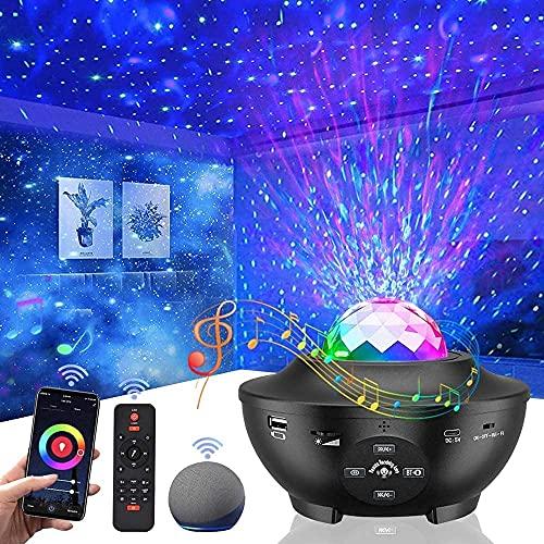 Galaxy Star Projector for Bedroom,Vercarnon Smart Night Light Projector...