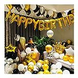 Lihuzmd Kit de Globos, decoración de Fiesta de cumpleaños Globo de película de Aluminio Mixto Globos románticos Sorpresa de champán (Herramientas Incluidas)