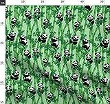 Bambus, Panda, Grün, Versteckt, Niedlich Stoffe -